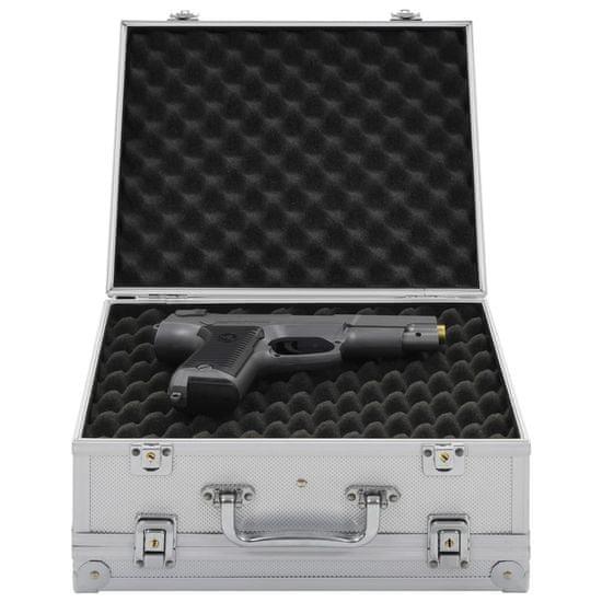 shumee ezüstszínű alumínium és ABS fegyvertáska