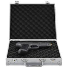 Greatstore Kufrík na zbraň hliníkový ABS strieborný