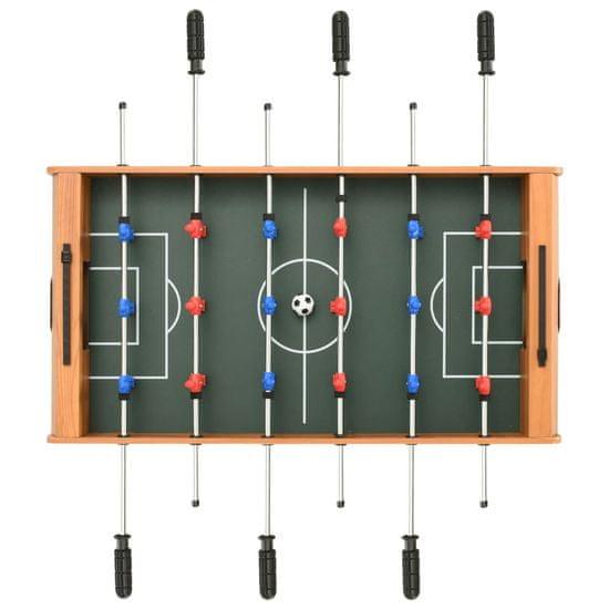 shumee Mini miza za namizni nogomet 69x37x62 cm javor
