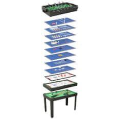 shumee 15 v 1 multifunkčný herný stôl čierny 121x61x82 cm