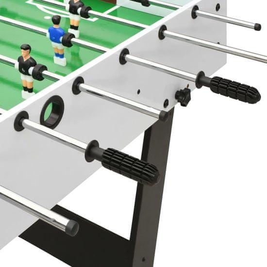 shumee Składany stół do piłkarzyków, 121 x 61 x 80 cm, biały