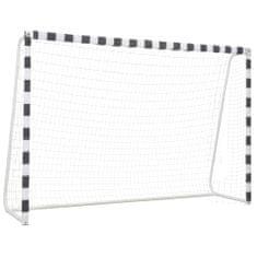 shumee Bramka do piłki nożnej, 300x200x90 cm, metalowa, czarno-biała