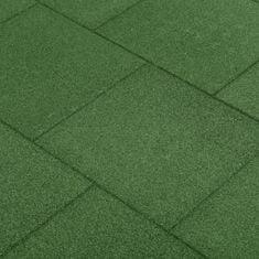 shumee Protipádové dlaždice 24 ks zelené 50x50x3 cm gumené