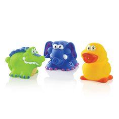 Nuby Igrače za kopel / krokodil, slon, raca / 3pcs 4 + m