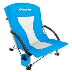 King Camp Kemping skládací židle Deluxe s opěrkami ocel - modrá