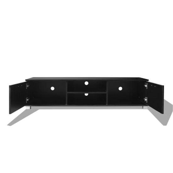 shumee TV omarica visok sijaj črna 140x40,3x34,7 cm