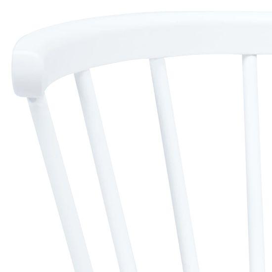 shumee Jídelní židle 2 ks bílé a světlé dřevo masivní kaučukovník