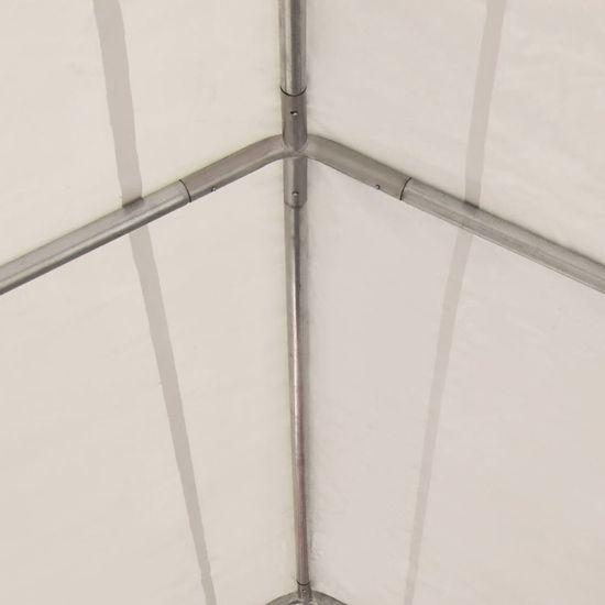 shumee Vrtni šotor PVC 4x6 m rdeče in bele barve