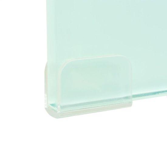 shumee Stojalo za TV/Računalniški Zaslon Belo Steklo 40x25x11 cm