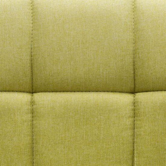 shumee Vrtljivi jedilni stoli 6 kosov zeleno blago