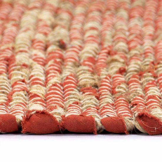 shumee Ręcznie wykonany dywan, juta, czerwony i naturalny, 160x230 cm