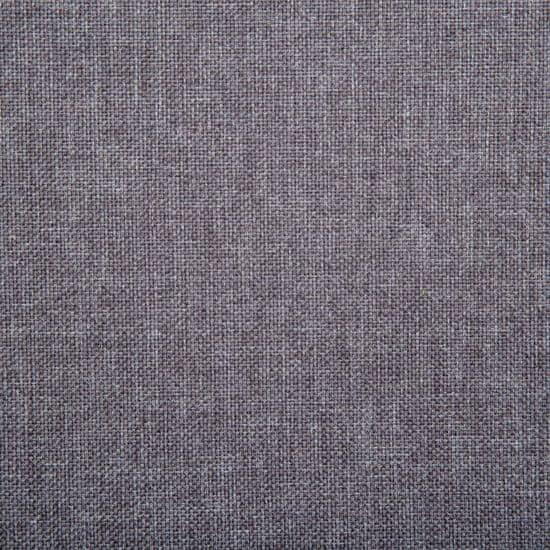 shumee Kavč dvosed z oblogo iz blaga 115x60x67 cm svetlo sive barve