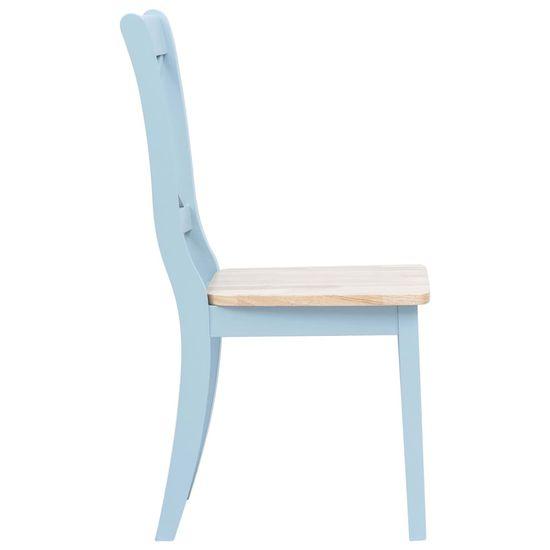 shumee Jedilni stoli 2 kosa siv in svetel les trdni kavčukovec