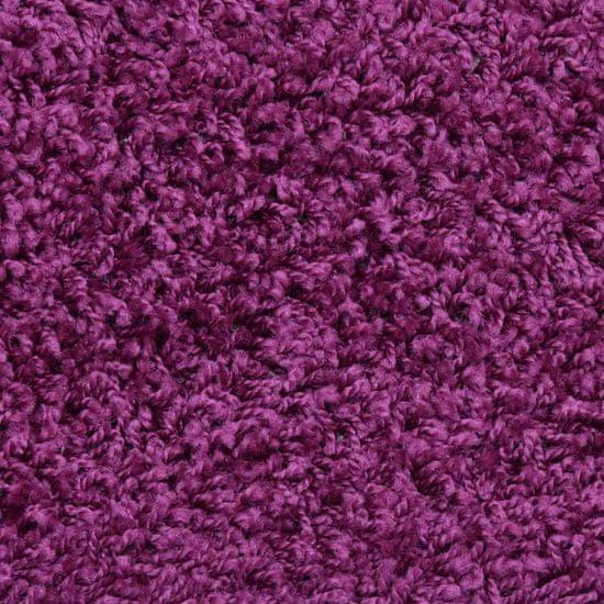 shumee Preproge za stopnice 15 kosov 65x25 cm vijolične
