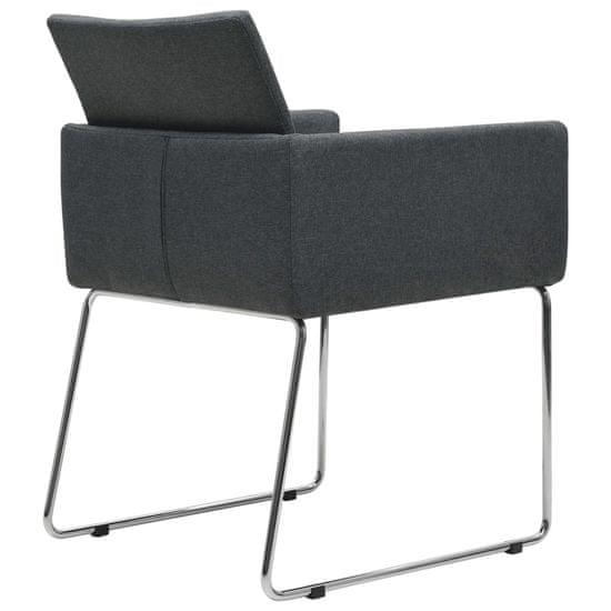 shumee Jedilni stoli 6 kosov temno sivo blago