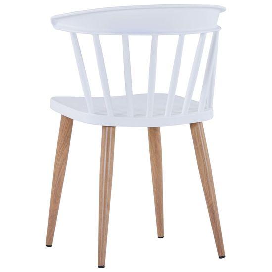 shumee Jedilni stoli 2 kosa bela plastika