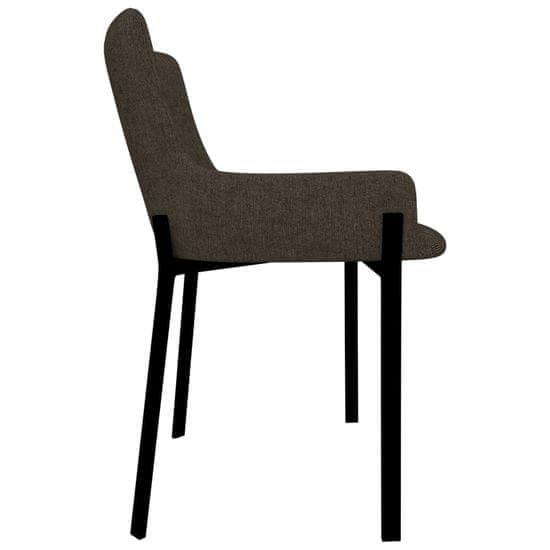 shumee Jedálenské stoličky 6 ks, hnedé, látka