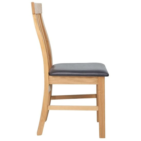 shumee Jedilni stoli 4 kosi trdna hrastovina in umetno usnje
