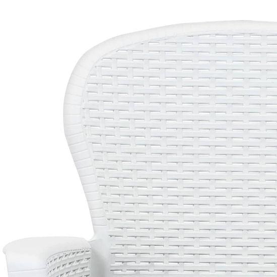 shumee 3-częściowy zestaw bistro, biały, stylizowany na rattan