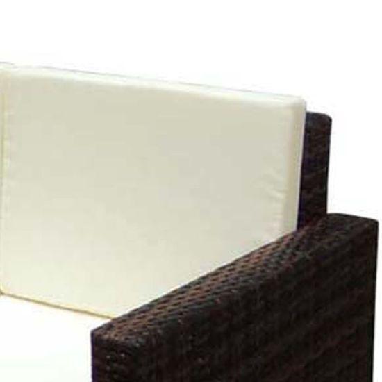 shumee Vrtna sedežna garnitura z blazinami 2-delna poli ratan rjava