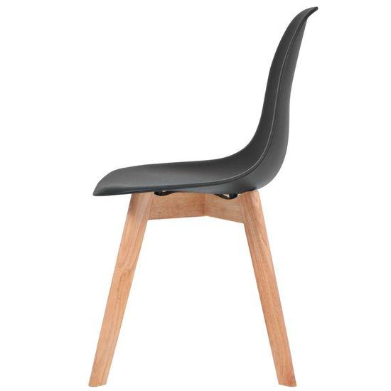 shumee Jedilni stoli 2 kosa črna plastika