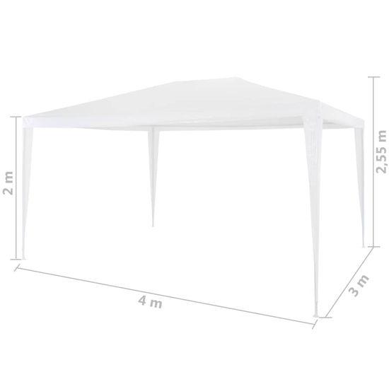 shumee Namiot imprezowy, 3 x 4 m, biały