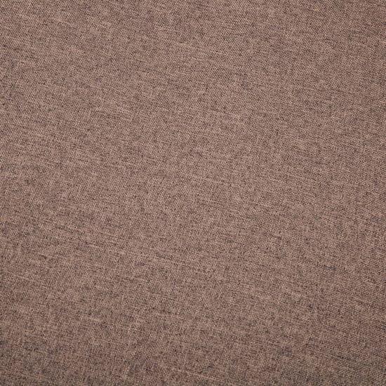 shumee Kavč trosed z oblogo iz blaga 172x70x82 cm rjave barve