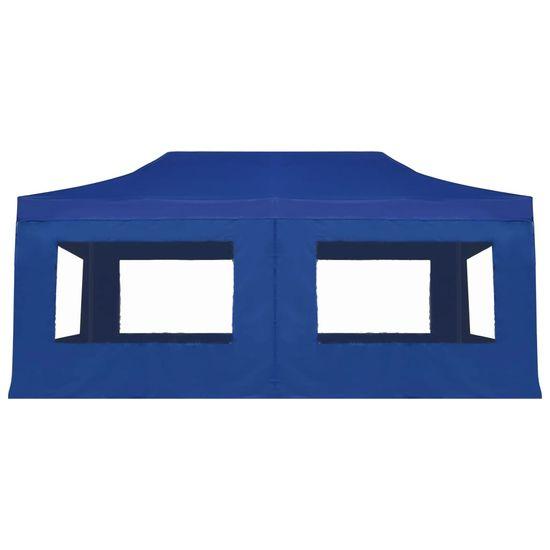 shumee kék összecsukható alumínium rendezvénysátor falakkal 6 x 3 m