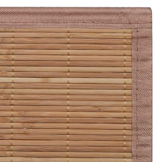 shumee Pravokotna Preproga iz Rjavega Bambusa 80 x 300 cm