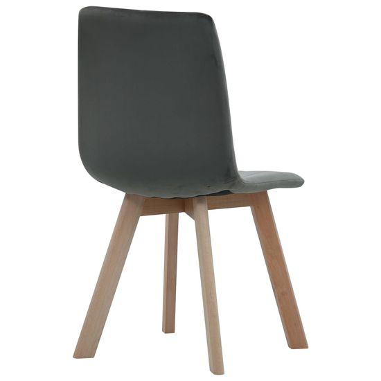 shumee Jedilni stoli 4 kosi siv žamet