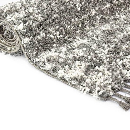 shumee Berberska preproga PP siva in bež 120x170 cm