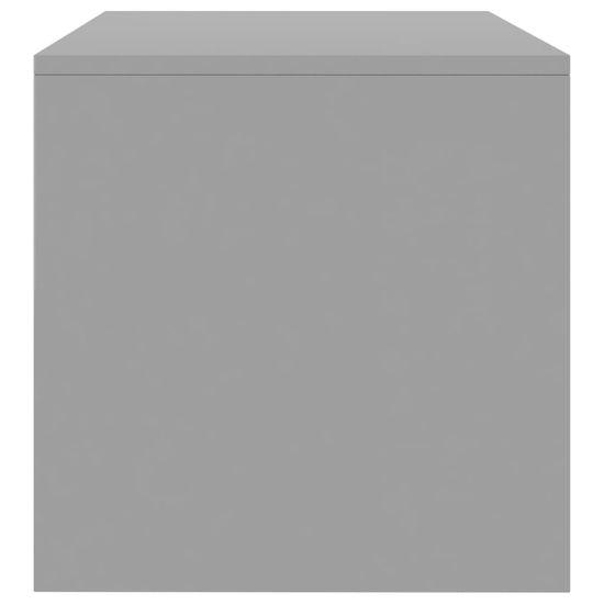 shumee TV omarica visok sijaj siva 120x40x40 cm iverna plošča