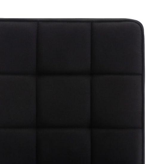 shumee Jídelní židle 6 ks černé textil