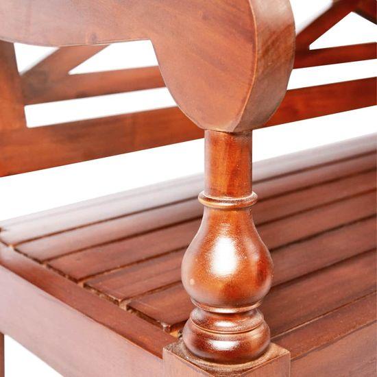 shumee 2 db sötétbarna tömör mahagóni Batavia szék
