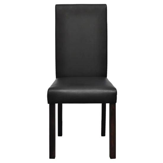 shumee Jedilni stoli 4 kosi črno umetno usnje