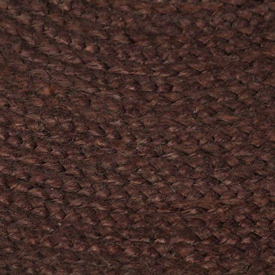 shumee Ručně vyrobený koberec z juty kulatý 120 cm hnědý