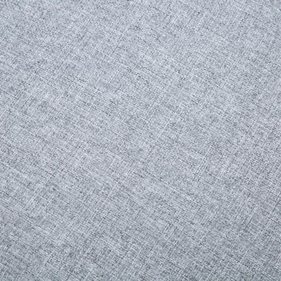 shumee Kavč L oblike z oblogo iz blaga 171,5x138x81,5 cm svetlo siv