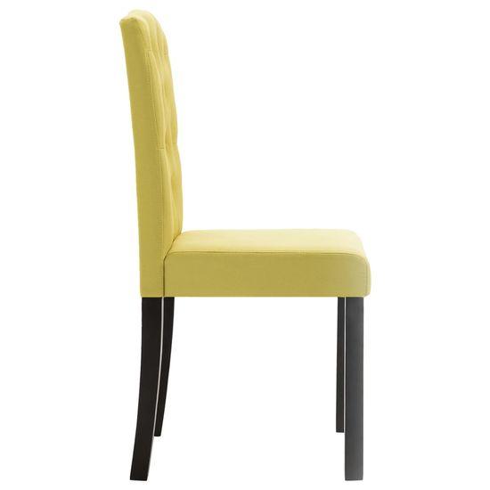 shumee Jedilni stoli 6 kosov zeleno blago