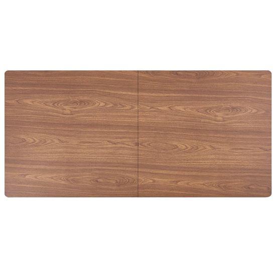 shumee 7-częściowy zestaw mebli do jadalni, brązowy, sztuczna skóra