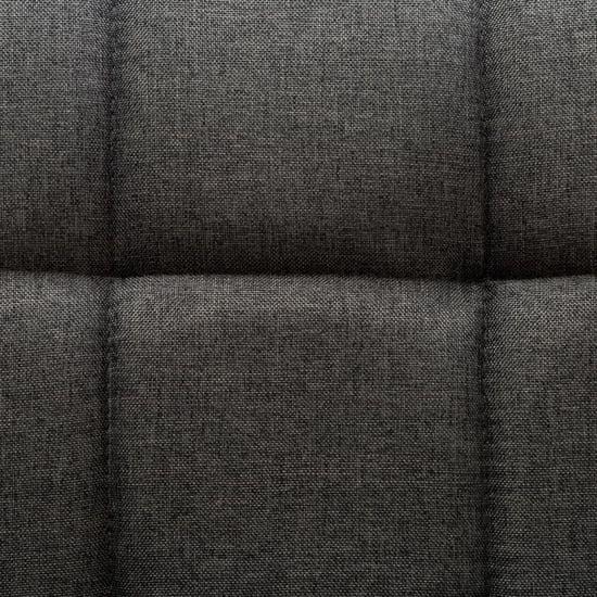 shumee Vrtljivi jedilni stoli 4 kosi temno sivo blago