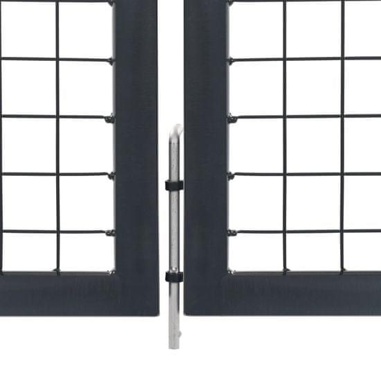 shumee Brama ogrodzeniowa ze słupkami, stal, 350 x 120 cm, antracytowa