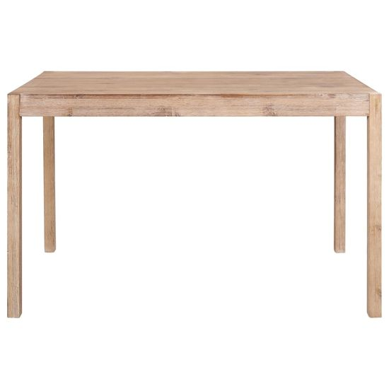 shumee Jedilna miza 120x70x75 cm trden akacijev les