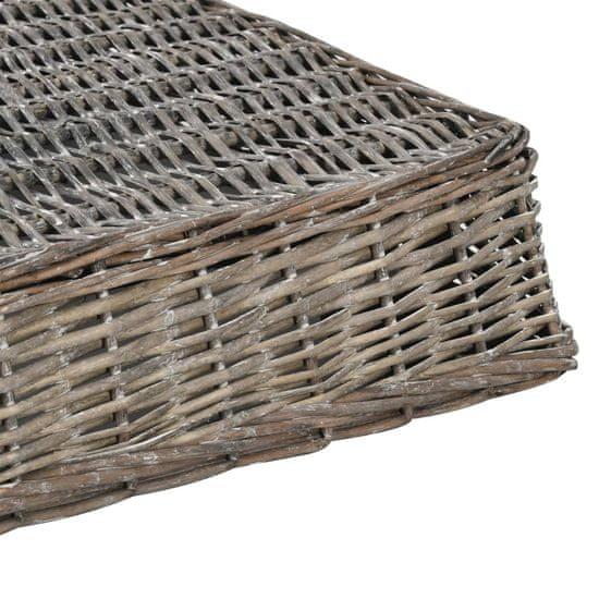 shumee Pasja postelja z blazino siva 125x80x15 cm naravna vrba