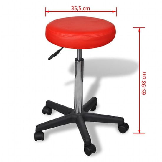 shumee Pisarniški stol rdeče barve