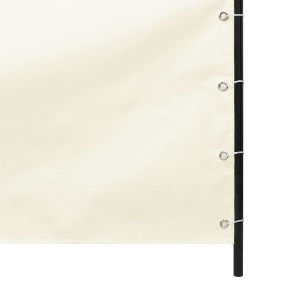 shumee Zasłona z tkaniny Oxford, pionowa, 140 x 240 cm, kremowa