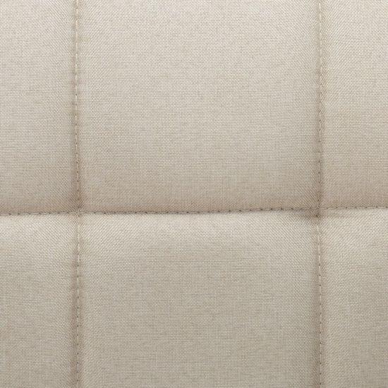 shumee 6 db krémszínű szövetborítású forgó étkezőszék