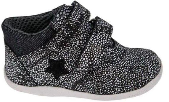Medico Dětská kožená obuv EX5001/M58 21 černá/bílá