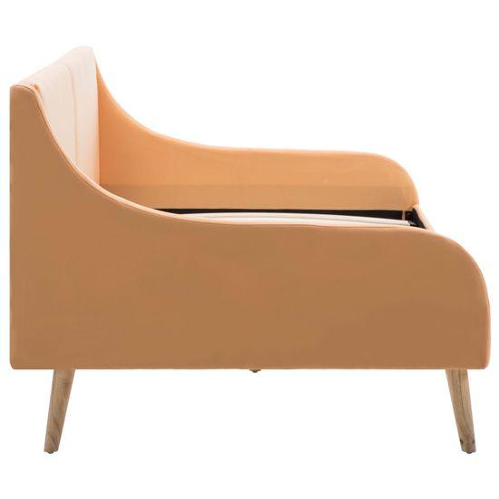 shumee Okvir za dnevno posteljo blago oranžne barve