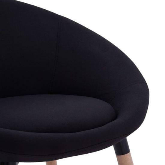 shumee Jedilni stoli 2 kosa črno blago