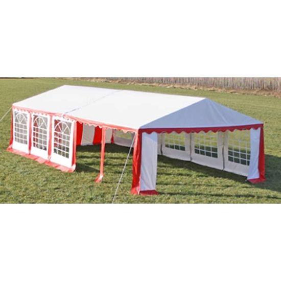 shumee Vrtni šotor 10x5 m rdeč